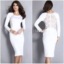 white lace dress with sleeves knee length knee length lace dresses fashion dresses