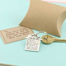 our u0027new home u0027 housewarming gift pewter keyring by multiply design