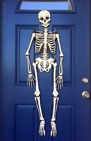 halloween skeleton door decorations