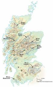 map of scotland and conservation of atlantic salmon in scotland map