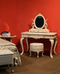 round dressing room ottoman dressing table with round puff on a frame of solid wood isella