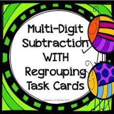 free tiered math activity for subtraction with regrouping math