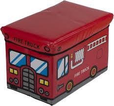 chambre garcon pompier coffre de rangement banquette camion de pompier badbouille