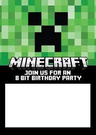 Stunning Appearance Minecraft Birthday Invitations Lilbibby Com