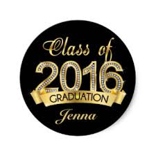 class of 2016 graduation 2016 graduation stickers zazzle