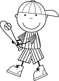 baseball kid coloring page wecoloringpage