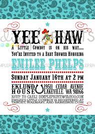 vintage cowboy printable baby shower invite dimple prints shop