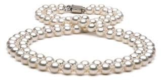 pearl necklace double strand images Strand freshwater pearl necklace 7 5 8 0mm jpg&a
