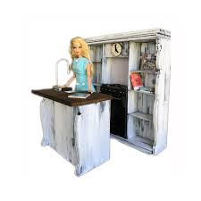 minimolly dollhouse furniture barbie size kitchen set french minimolly dollhouse furniture barbie size kitchen set french provincial style oven sink shelves cookbooks 1 6 scale