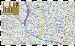 Austin Map by Streetwise Austin Map Laminated City Center Street Map Of Austin