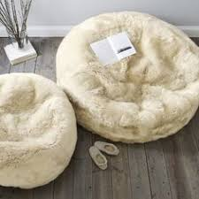 sheepskin beanbag luxury large long haired the ultimate home