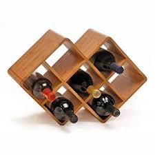 amazon com oenophilia bamboo wine rack 8 bottle kitchen u0026 dining