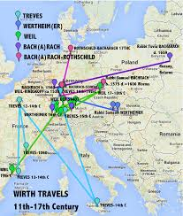 Where Is Amsterdam On A Map Weil Treves Bacharach Travels Jews Of Frankfurt