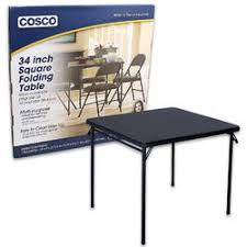 cosco square folding table wholesale cosco square folding table with vinyl top 34 item 73529