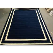 Solid Area Rugs Solid Navy Blue Area Rug 7x10 White Border 6 U00279