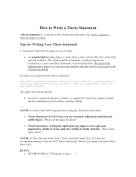 Example Of Thesis Statement For Argumentative Essay Thesis Examples For Argumentative Essays