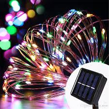 solar power led lights 100 bulb string 10m 100 led solar power string lights waterproof led light copper