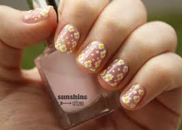 dainty flower nail art design sunshine citizen