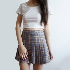 plaid skirt plaid tennis skirt 3 colors megoosta fashion free shipping