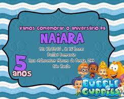 convite bubble guppies elo7