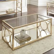 gold glass coffee table glass coffee tables you ll love wayfair