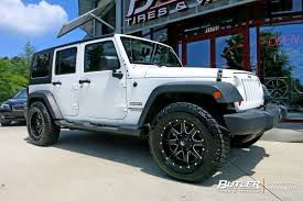 jeep wheels white jeep wrangler with 18in fuel maverick wheels exclusively from