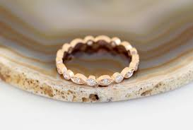art deco wedding band rose gold wedding band vintage wedding