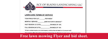 Commercial Landscaping Bids by Free Lawn Mowing Flyer And Bid Sheet Lawn Care Business