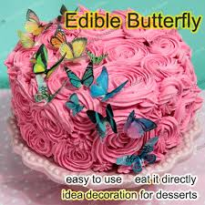 Edible butterflies for cake 500pcs 3D edible butterfly cake