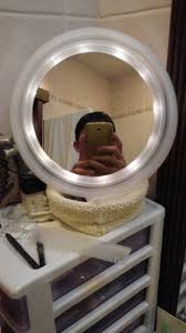 Automatic Solar Powered Edge Lighted Vanity Mirror Ikea Hackers