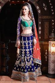 engagement lengha this mughal style is made out of emerald green silk