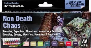 vallejo game colour paint set non death chaos 8 x 17ml