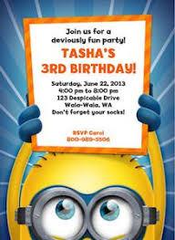 despicable me minion personalized birthday invitation