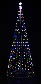 192 16 ft outdoor multi color led cone tree w collapsible base