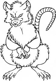 coloring page of a rat rat coloring page animals town animals color sheet rat