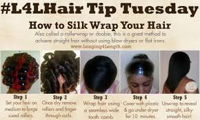 hairstyles wraps how to silk wrap your hair l4l hairtiptuesday l4l roller rod