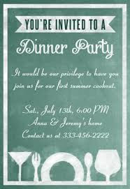 dinner invitation dinner party invitation template theruntime