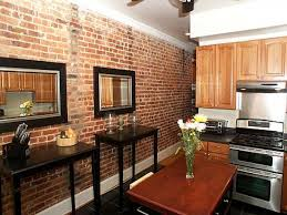 fake exposed brick wall tiles floor decoration