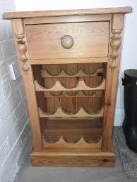 pine butchers block wine rack in otley west yorkshire gumtree pine butchers block wine rack