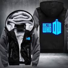 whovians glowing fleece jacket limited edition u2013 gadgetily com
