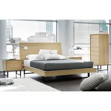 ophelia queen size bed with wood headboard by mobican available