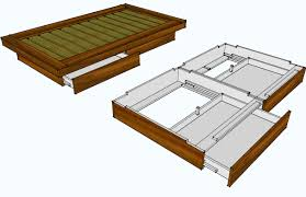 Twin Storage Bed Plans How To Build A Platform Bed Fraome From Home Depot Platform Bed