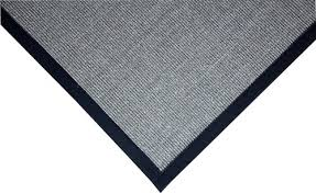 Skid Resistant Rugs Natural Sisal Foyer Rug Grey Black Dean Flooring Co