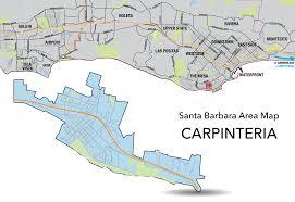 Santa Barbara Map Housing Carpinteria Santa Barbara City College