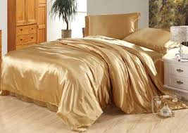 Bedding Sets Luxury Luxury Camel Tanning Silk Bedding Set Satin Sheets King