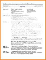 Student Teaching Resume Template 9 Undergraduate Student Cv Template Xavierax