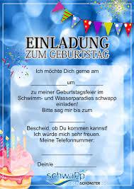 Schwapp Bad Einladungskarten Kindergeburtstag Kostenlos Download Designideen