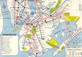 Manhattan Map Subway by Nyc Subway Maps Have A Long History Of Including Path Nj Waterfront