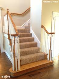 How To Refinish A Banister My Refinished Staircase A Nester U0027s Nest