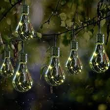 globrite 2 x ornamental light bulb firefly hanging solar powered